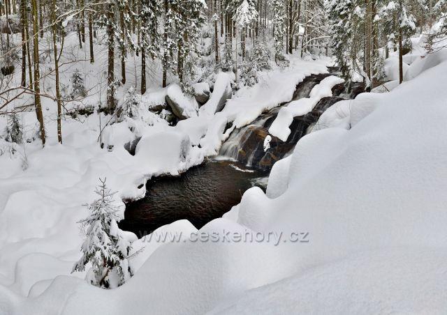 Hlavní vodopád na Černé Desné - 15.01.2017.