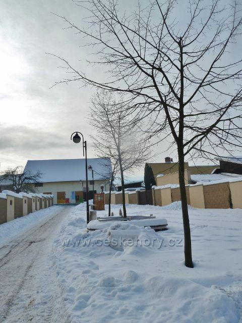 Žamberk - pěší zona v zimním hávu