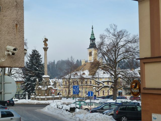 Žamberk - pohled od pěší zony do Masarykova náměstí