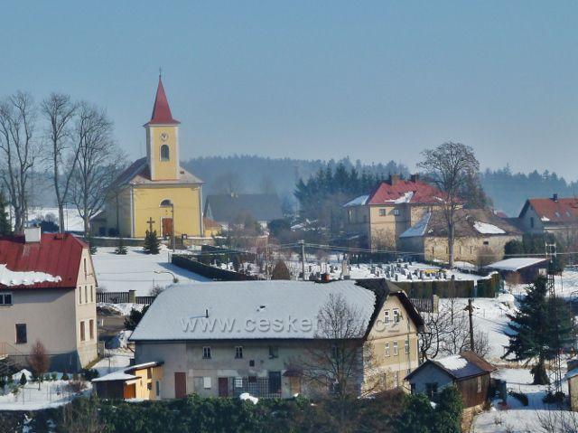 Kunvald - hřbitov a kostel sv.Jiří