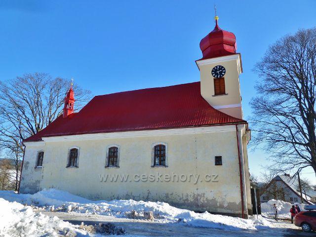 Říčky v O.h. - kostel Nejsvětější Trojice