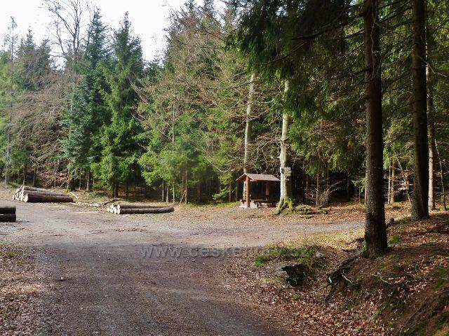 Studenecký horní les - křižovatka turistických cest