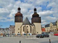 Náchod - kostel svatého Vavřince na Masarykovo náměstí