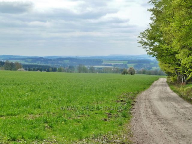 Pohled z Kunačic ke Kunvaldu