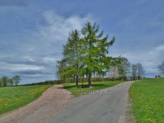 Kunvald - rozcestí cest do Kunačic a do Záhor