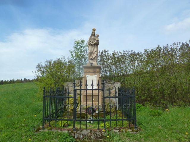 Kunačice - pomník Panny Marie