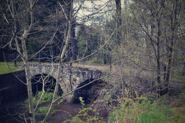 1751, most Švédského typu - ojedinělá konstrukce o dvou mostních polích.