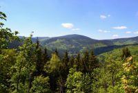 Výhled ze Zámecké hory.