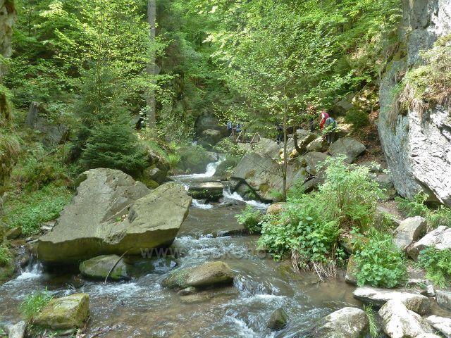 Rešovské vodopády - Huntava nad velkým vodopádem