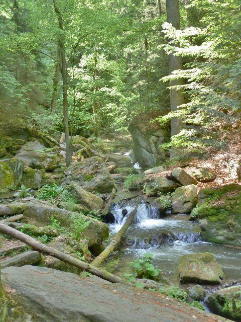 Rešovské vodopády - Huntava nad malým vodopádem