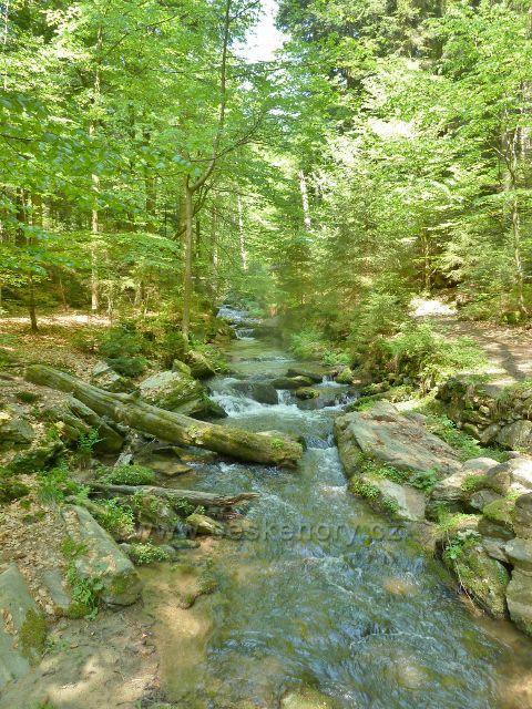 Rešovské vodopády - Huntava podél trasy po zelené TZ směr Skály