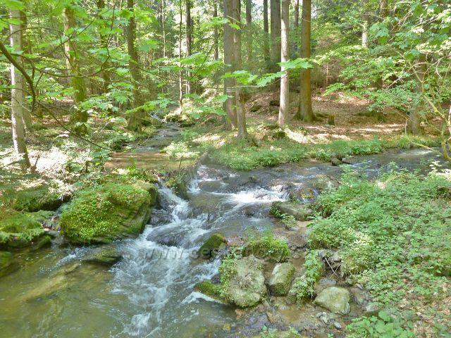 Rešovské vodopády - soutok Huntavy s Tvrdkovským potokem