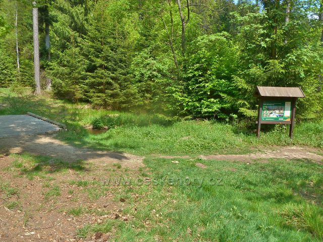 Rešovské vodopády - horní hranice rezervace