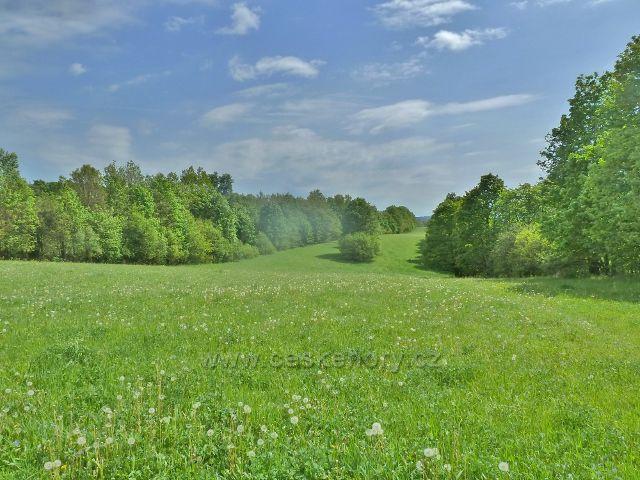 Rešov - louky a pastviny nad Rešovem