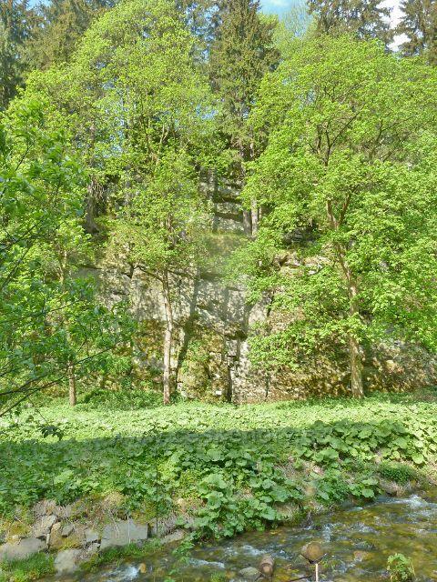Branná - skaliska nad říčkou Branná