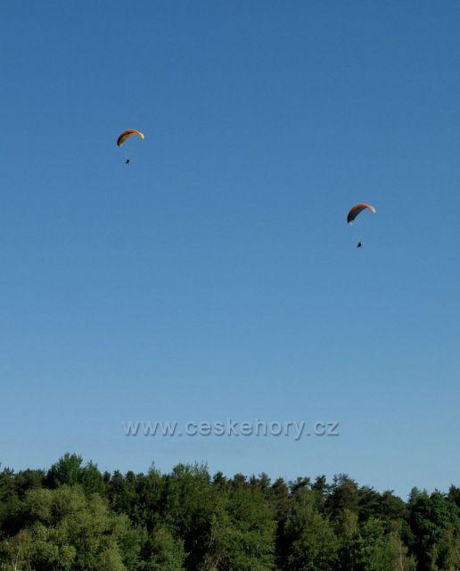 Paragliding nad Železnými horami