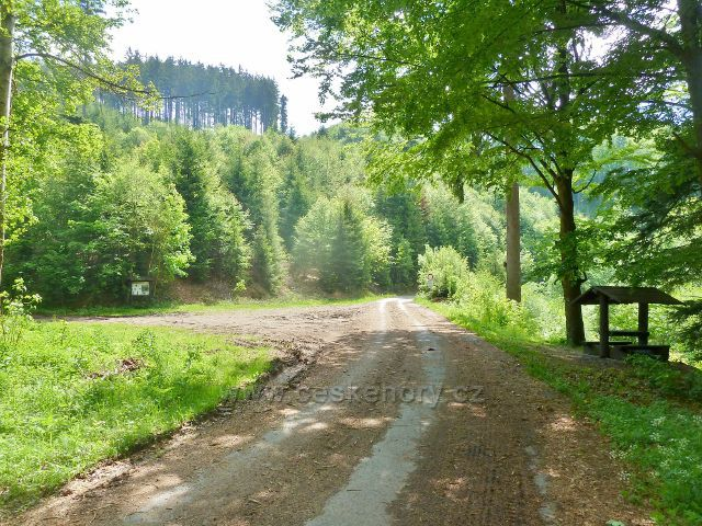 Sázavské údolí - cyklostezka 4222  z Albrechtic do Výprachtic
