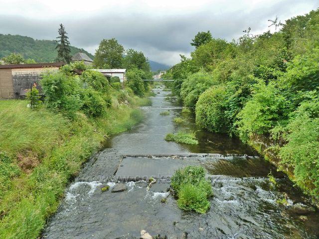 Zlaté Hory - městem protéká Zlatý potok