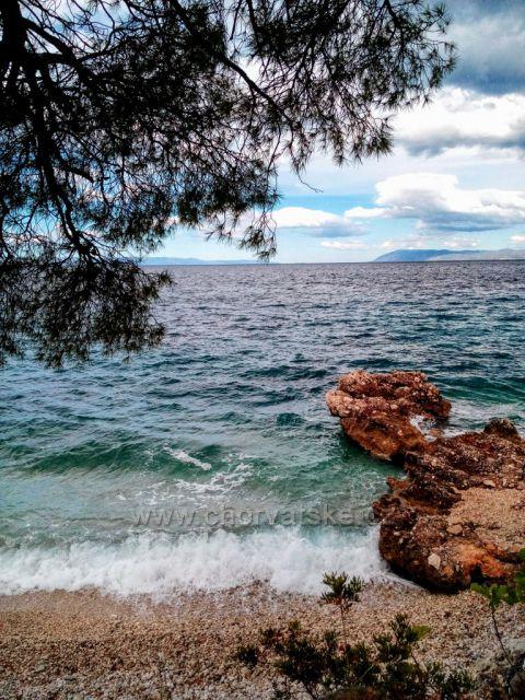 Větrný den u moře.