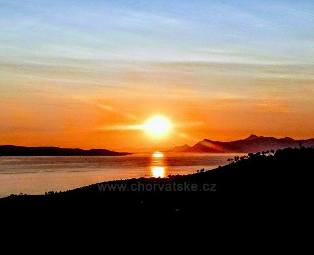 Západ slunce z horní Podgory.
