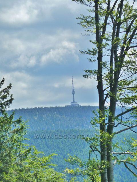 Pohled na Praděd z cyklostezky ze Švýcárny na Červenohorské sedlo