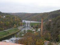 Znojemská přehrada ze starých hradeb-Znojmo