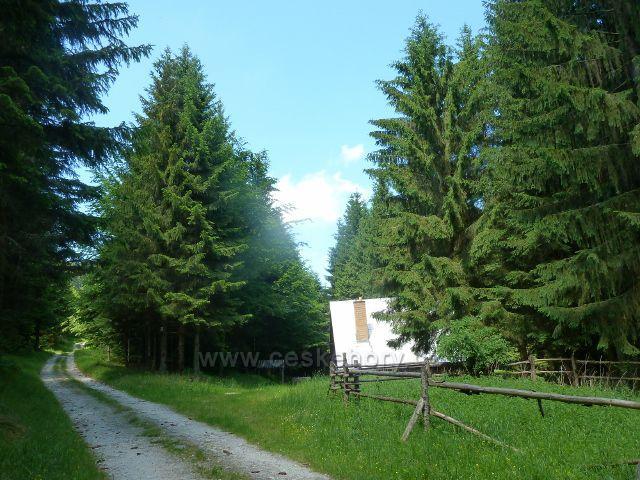 Lázně Jeseník - lovecká chata na úbočí Studničního vrchu