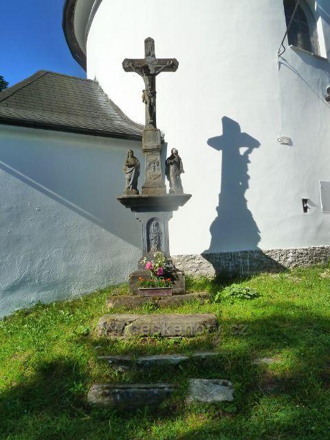 Nové Losiny - Boží muka u kostela sv. Isidora