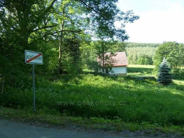 Nové Losiny - rekreační objekt na horním konci obce