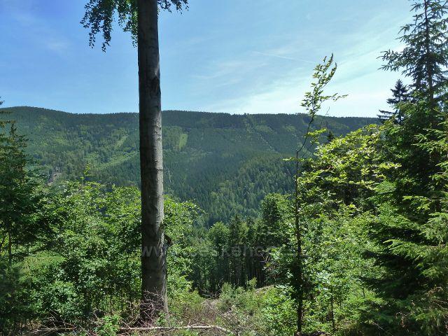 Loučná - pohled z cyklostezky 6155 na protilehlý hřeben Suché hory