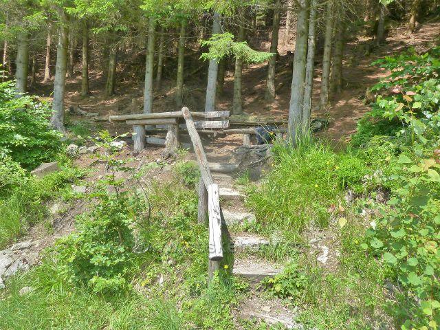Horní Lipová - odpočívadlo na výhledovém místě nad Horním lesním barem