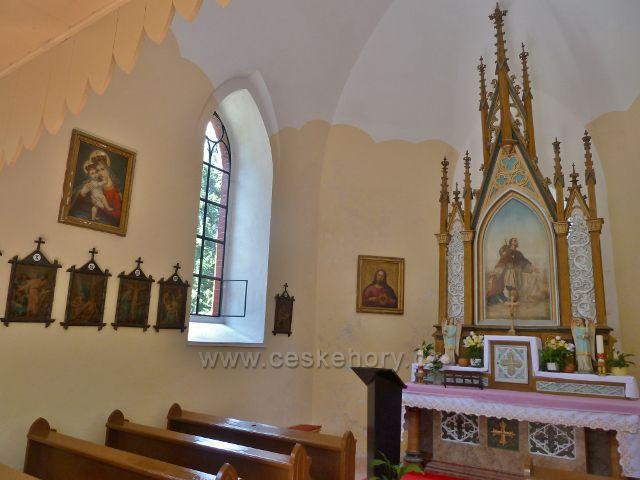 Ramzová - interiér kaple sv. Rocha