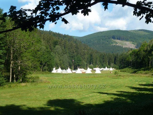 Chrastice - skautský tábor na Prudkém potoku