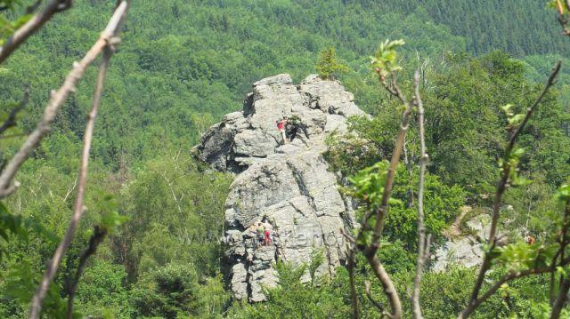 Horolezci na Rabštejně
