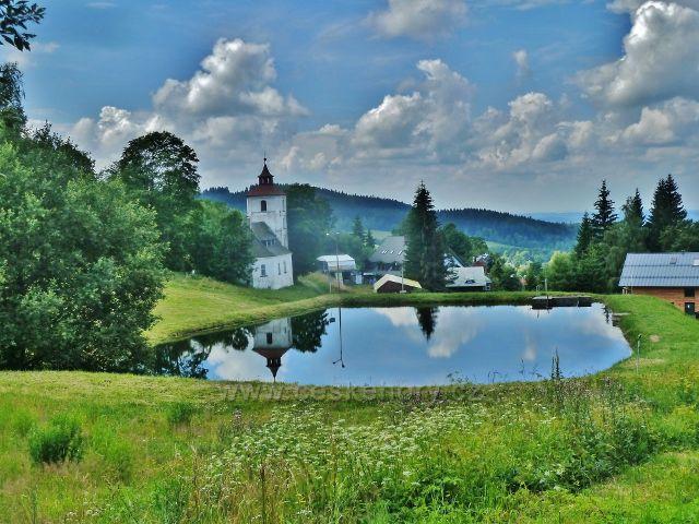 Čenkovice - rybník nad bývalým evangelickým kostelem
