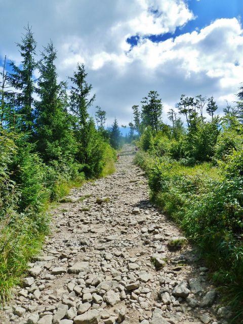 Lysá hora - sestupová cesta po modré TZ od Malchoru k Ivančeně