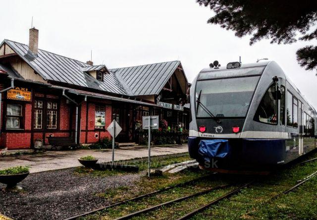Za deště v Tatranské Lomnici.