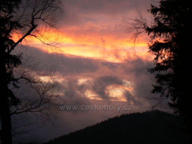Západ slunce nad Rychlebskými horami