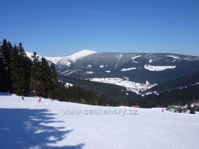Sněžka a Růžová hora ze Zahrádek