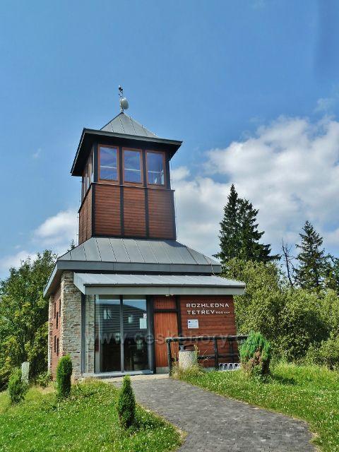 Rozhledna Tetřev na vrchu Čerchlaný Beskyd - 945 m.n.m.