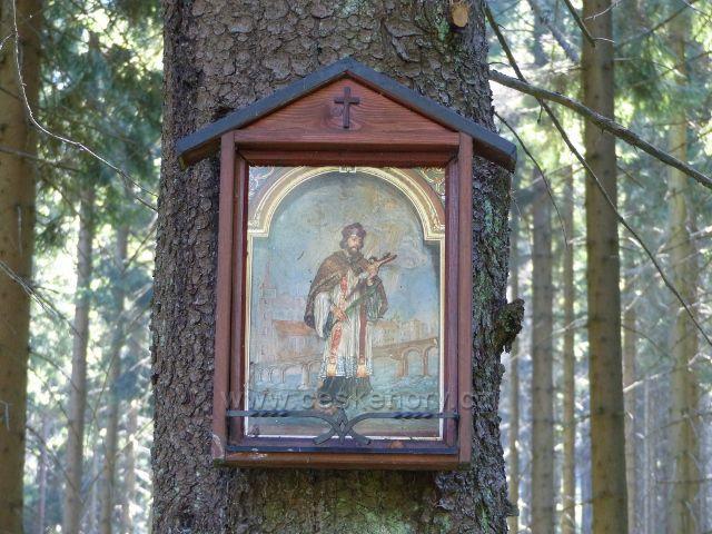Malá Morava - svatý obrázek na rozcestí Bouda