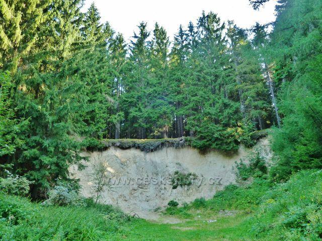 Horní Orlice - opuštěný pískovcový lom u silničky pod Jeřábem