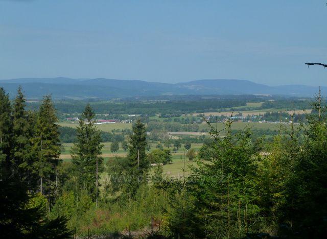Horní Orlice - pohled z úbočí Lískovce k pásmu Králického Sněžníku