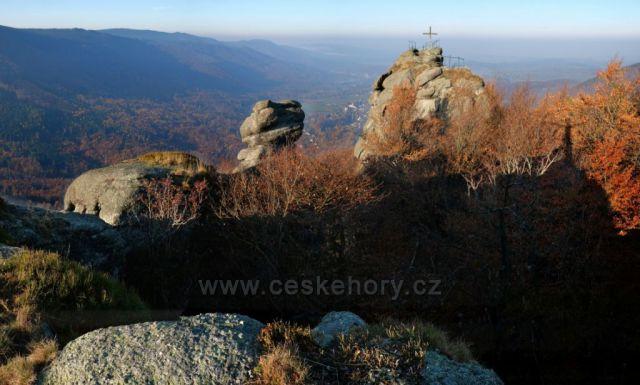 Ranní podzimní panorama z Paličníku