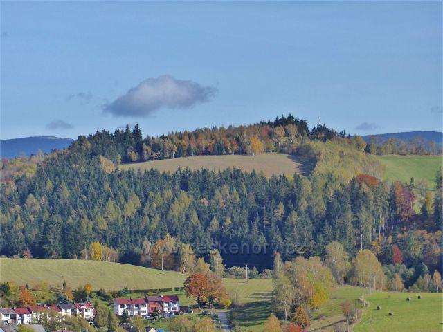 Staré Město pod Sněžníkem - Kančí vrch (723 m.n.m.) nad městem