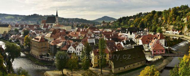 Český Krumlov, panoráma,foto 1.10.2017