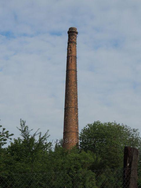 nejstarší komín Chomutova bývalé šamotky u Černovic