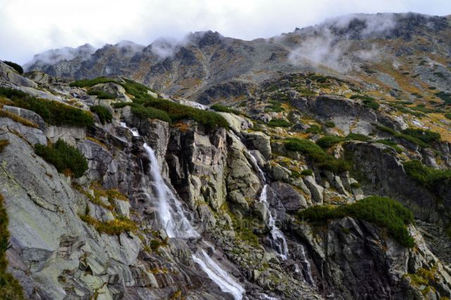 Vodopád Skok - pohled shora