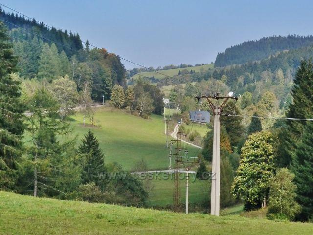 Ostružné - pohled do údolí říčky Branné směrem k Ostružné