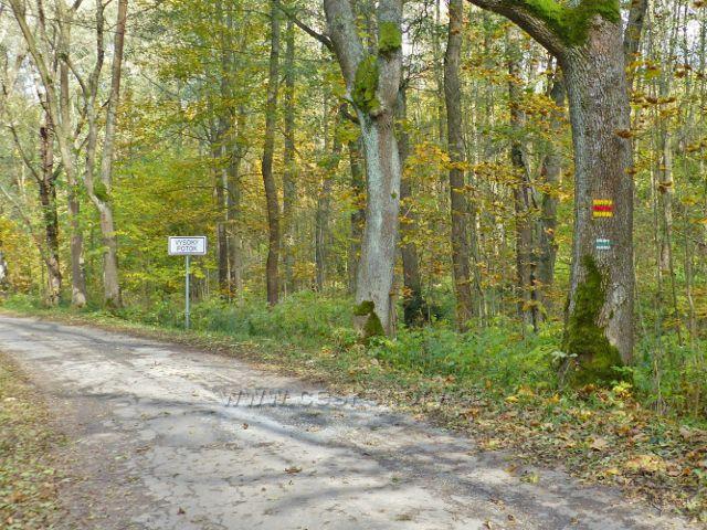 Vysoký Potok - místní tabule na okraji horní části obce